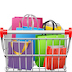 Vector Supermarket Cart with Shopping Bags - GraphicRiver Item for Sale