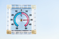thermometer on home window in hot sunny morning - PhotoDune Item for Sale