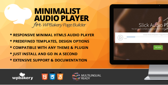 Minimalist Audio Player Addon for WPBakery Page Builder            Nulled