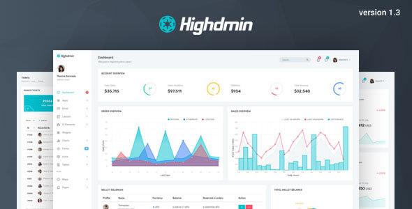 Highdmin - Responsive Bootstrap 4 Admin Dashboard - Admin Templates Site Templates