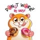 Vector Illustration of Cartoon Hamster with Donuts - GraphicRiver Item for Sale