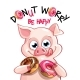 Vector Illustration of Cartoon Pig with Donuts - GraphicRiver Item for Sale