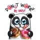 Vector Illustration of Cartoon Panda with Donuts - GraphicRiver Item for Sale