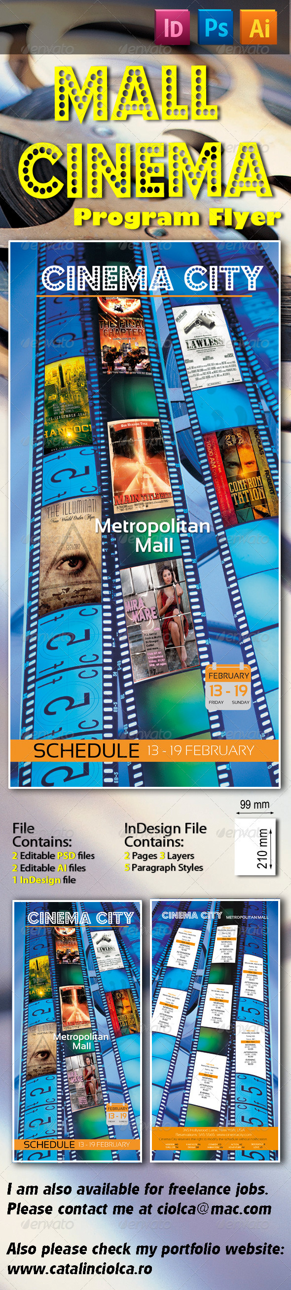 Mall Cinema Program Flyer - Flyers Print Templates