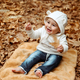 Cheerful boy in autumn park - PhotoDune Item for Sale
