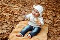 Cheerful boy in autumn park - PhotoDune Item for Sale