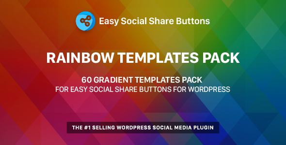 Rainbow Templates Pack for Easy Social Share Buttons Free Download | Nulled