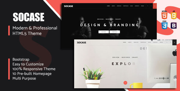 Socase- Multipurpose HTML5 Template Free Download | Nulled