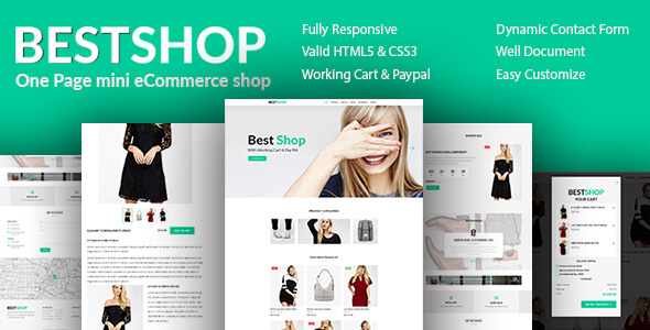 Bestshope - One Page Mini eCommerce Shop Templates - Retail Site Templates