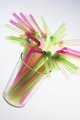 Drinking Straws in Glass - PhotoDune Item for Sale