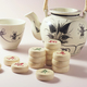Chinese Teapot and Teacup with Chess Pieces - PhotoDune Item for Sale