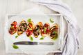 Sun dried tomatoes, cream cheese and fried mushrooms bruschetta - PhotoDune Item for Sale