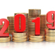2019 New year on coins stack. Busines  success, prosperity and w - PhotoDune Item for Sale