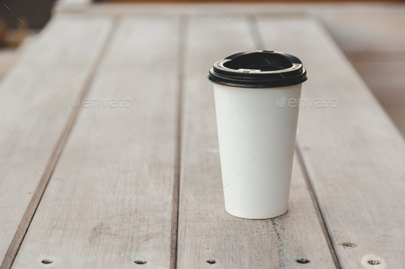 White paper coffee cup - Stock Photo - Images