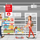Shopping Food on Sale Cartoon Vector Concept - GraphicRiver Item for Sale