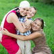 mother with two kids having picnic outdoors - PhotoDune Item for Sale