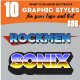 10 Illustrator Graphic Style - Game Title Set Vol.6 - GraphicRiver Item for Sale