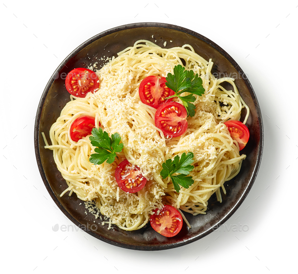 plate of spaghetti pasta - Stock Photo - Images