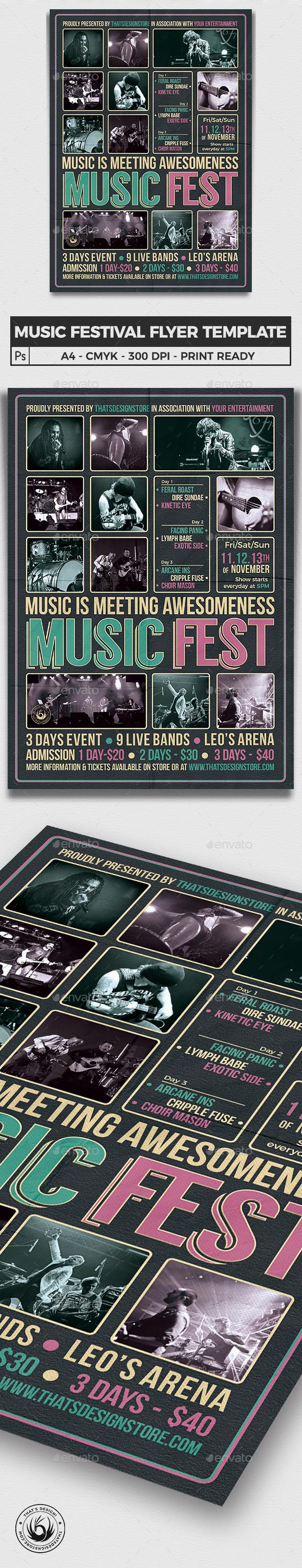 Music Festival Flyer Template V8 - Concerts Events