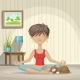 Young Woman Practices Yoga - GraphicRiver Item for Sale