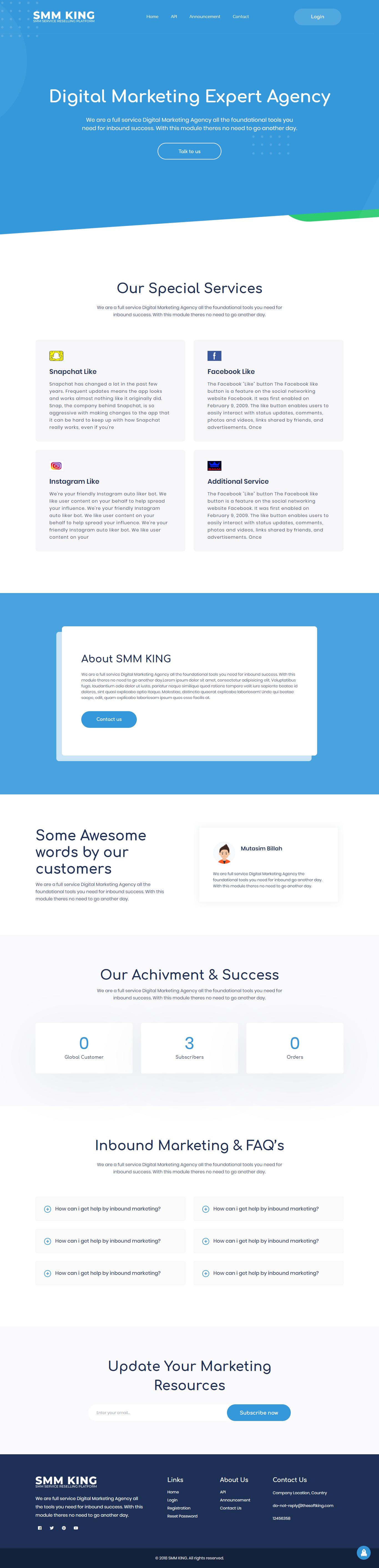 SMMKING - Social Media Marketing Panel