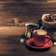 cup of coffee on wood - PhotoDune Item for Sale