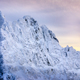 Beautiful winter landscape with lonely climber and snowed mountains, Slovakia - PhotoDune Item for Sale