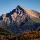 Mountain peak Krivan in High Tatras, with beautiful autumn color, Slovakia - PhotoDune Item for Sale