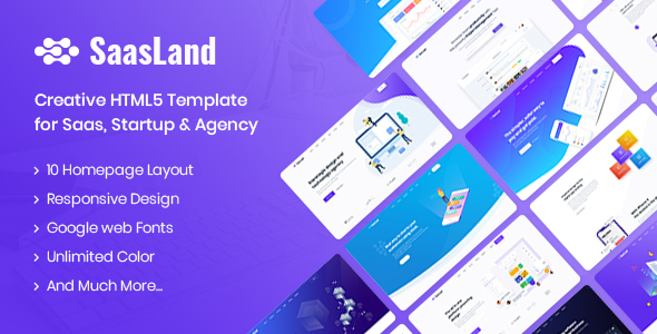 SaasLand - Creative HTML5 Template for Saas, Startup & Agency Free Download | Nulled