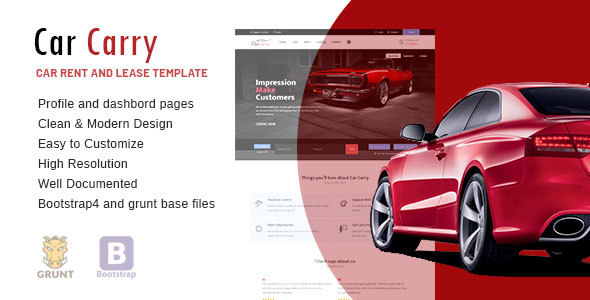 Car Carry Rent & Lease Responsive Template Free Download | Nulled