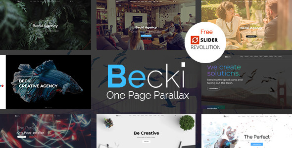 Becki - Creative Parallax One Page HTML Template