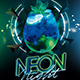 Neon Night Party Flyer-Graphicriver中文最全的素材分享平台