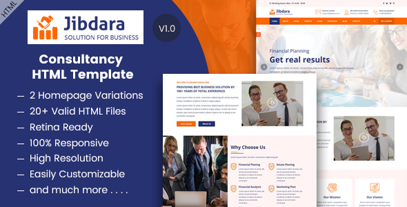 Jibdara - Business Consulting HTML Template - Corporate Site Templates