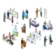 Isometric Meeting. Business People on Presentation - GraphicRiver Item for Sale