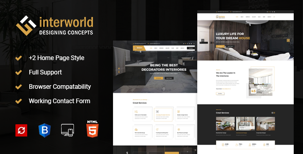 Interworld - HTML Template for Architecture, Construction, and Interior Design