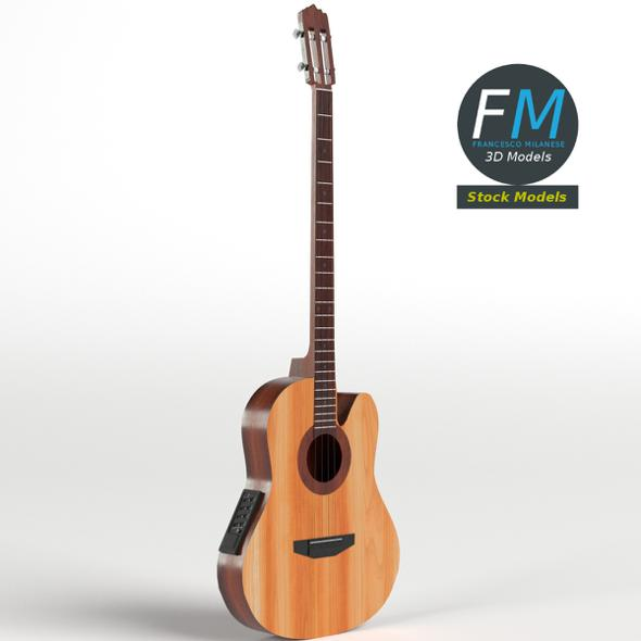 Acoustic Bass Guitar - 3DOcean Item for Sale