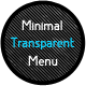 Minimal Transparent Menu - CodeCanyon Item for Sale