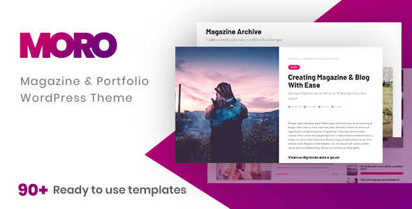 Moro - Multi-purpose Magazine Theme with Portfolio