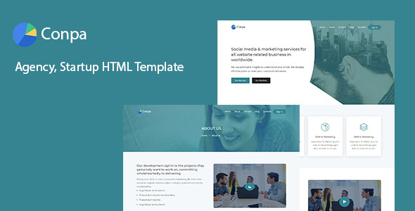 Conpa - Agency, Startup HTML Template Free Download   Nulled