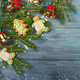 Glazed Christmas gingerbread and  tree branches - PhotoDune Item for Sale