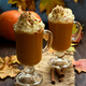 Pumpkin latte with whipped cream and cinnamon - PhotoDune Item for Sale