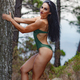 Fitness girl posing with a beautiful green swimsuit - PhotoDune Item for Sale