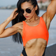 Fitness girl posing with a beautiful black and oragne bikini - PhotoDune Item for Sale