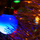 Closeup of blue Christmas tree lamp - PhotoDune Item for Sale