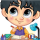Set of Children Studying on Table - GraphicRiver Item for Sale