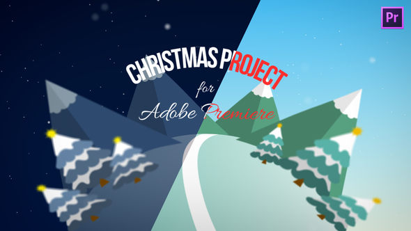 Christmas opener with 2d flat design for Adobe Premiere Pro 2018 Template