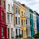 Colorful detached houses in Notting Hill - PhotoDune Item for Sale