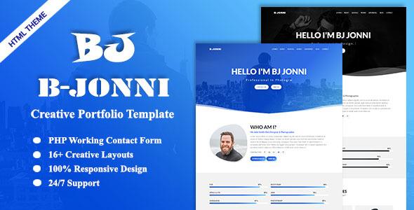 B-Jonni-Personal Portfolio Template by synchrotheme