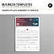 Tessera Affiliate Agreement A4 Template - GraphicRiver Item for Sale