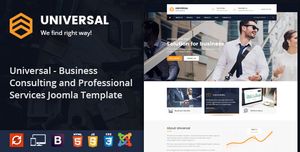 Universal - Business Consulting and Professional Services Joomla Theme